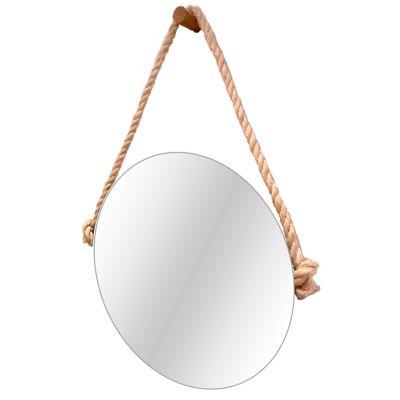 Espelho Vintage Alça Corda Sisal 40cm