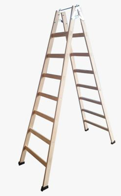 Escada Pintor de Madeira com 5 Degraus e Gancho