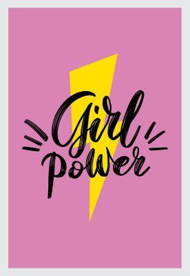 Quadro sem Vidro 22x32cm Girl Power