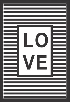 Quadro sem Vidro 22x32cm Love Strips