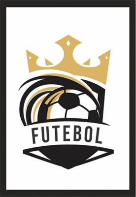 Quadro sem Vidro 22x32cm Preto - Futebol