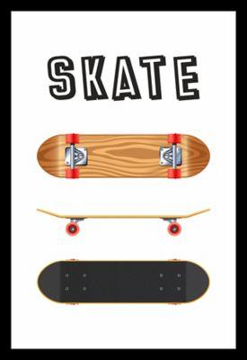 Quadro sem Vidro 22x32cm Preto - Skate