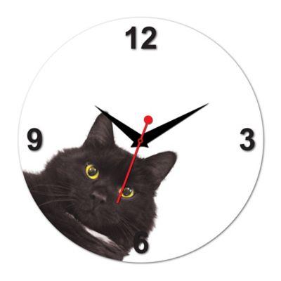 Relógio de Parede Gato Preto