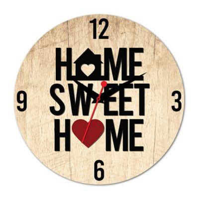 Relógio Home Sweet Home Aplique