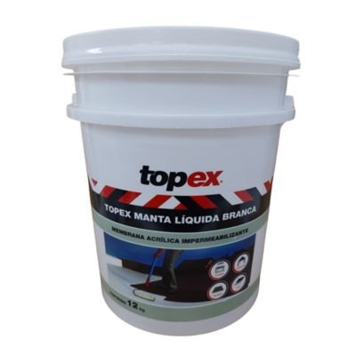 Topex Manta Líquida Bco Balde 12Kg Topex
