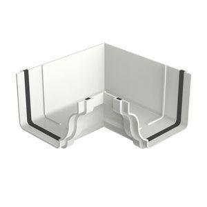 Esquadro Interno Aquapluv Style 18,55x13,3x9,2cm  Branco