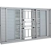 Veneziana de Correr Multiflex de Alumínio 6 Folhas Grade 100x200cm Branco Aluminium