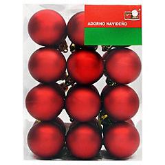 Set 24 esferas 4 cm dorado mate