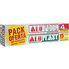 Kit papel aluminio + film adherente 2 piezas