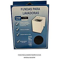 Funda para lavadora superior de 5-6 kg textil blanco