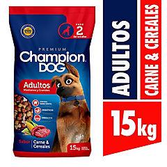 Alimento seco para perro adulto 15 kg carne y cereal