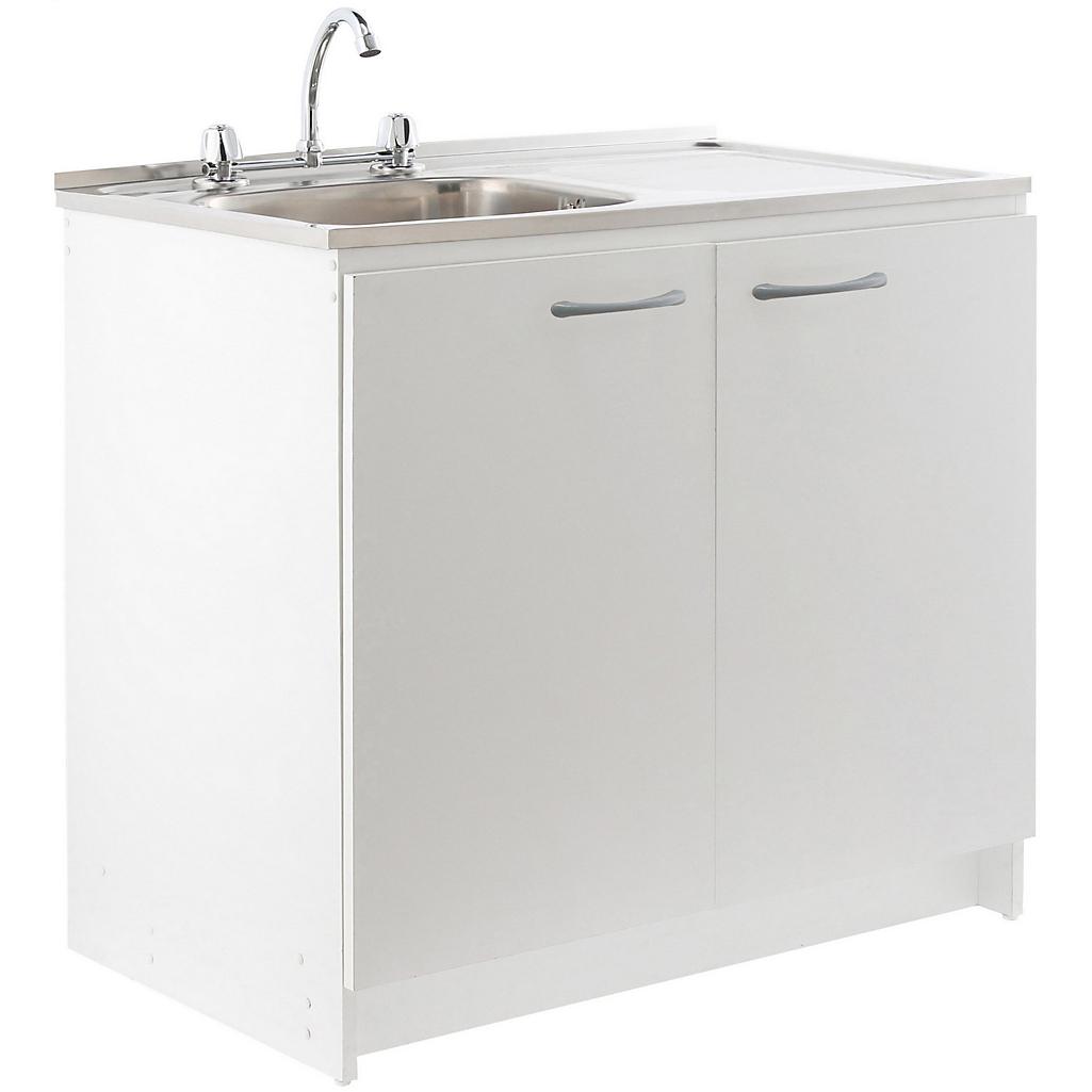 Kit mueble para lavaplatos 100x88x50 cm Blanco - Sodimac.com b918562ac001
