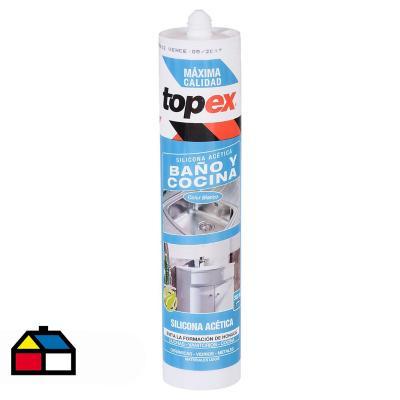 Silicona con fungicida para baño y cocina 300 ml - Topex ...