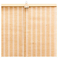 Cortina enrollable yute 120x165 cm café claro