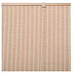 Cortina enrollable yute 160x165 cm café claro