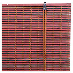Cortina enrollable bambú 80x165 cm chocolate