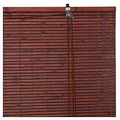 Cortina enrollable bambú 100x100 cm Chocolate