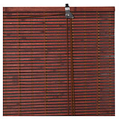 Cortina enrollable bambú 120x165 cm chocolate