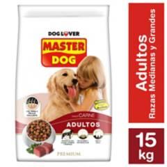 MASTER DOG - Alimento seco para perro adulto 15 kg carne, arroz y vegetales