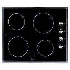 Encimera el ctrica 4 quemadores negro for Cocina encimera electrica