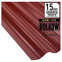 0.35 x 851 x 3660 mm, Plancha zinc acanalada Toledana prepintada roja.