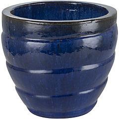 Macetero de cerámica 29x26 cm Azul