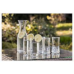 Set de vasos vidrio 325 cc 6 unidades