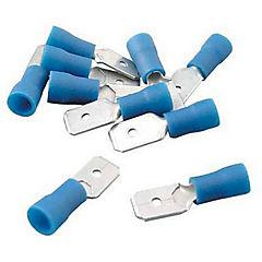 Terminal macho mediano 10 unidades Azul
