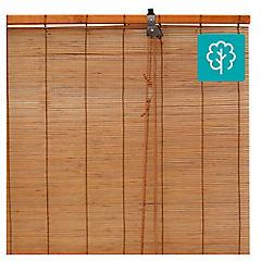 Cortina enrollable bambú 80x165 cm café