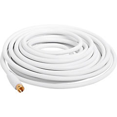 Cable coaxial 7.5mts. blanco VH625WH