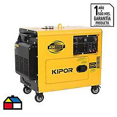 Generador eléctrico a diesel 4500 W 6 hr