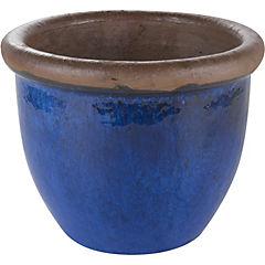 Macetero de cerámica 25x19 cm Azul