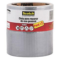 Set de cintas adhesivas para embalaje 48 mm 9,1 m 2 unidades