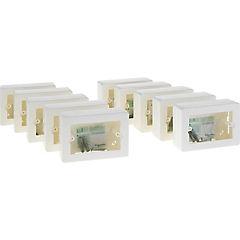 Set de cajas de distribución sobrepuestas 12x8,5 cm 10 unidades