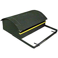 Buzón para cartas y diarios 38x28x15 cm de metal Negro