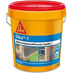 Tineta 18 litros Aditivo impermeabilizante fraguado normal Sika 1