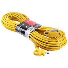 Extensión eléctrica profesional 20 m Amarillo
