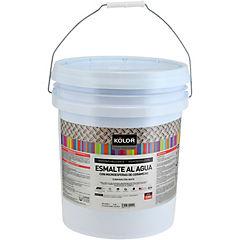 Esmalte impermeabilizante al agua mate 5 gl blanco
