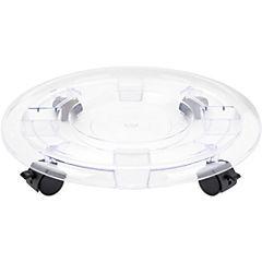 Base para macetero con ruedas 43 cm de plástico