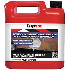Bidón de 4.5 lt Acelerante controlado de fraguado Topex 3