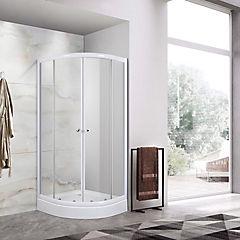 Cabina curva para ducha 200x80x80 cm metacrilato con receptáculo