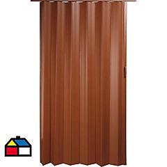 Puerta plegable PVC caoba Tivoli 70 x 200 cm