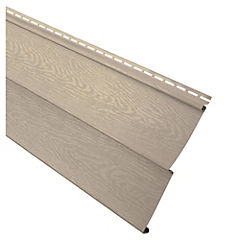 0,20 x 3,81 m Revestimiento exterior de PVC beige