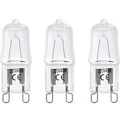 Pack de ampolletas halógenas G-9 40 W 3 unidades cálida