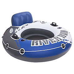 Asiento inflable plástico azul