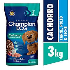 Alimento seco para cachorro 3 kg carne, pollo y leche