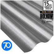0.35 x 851 x 2000 mm, Plancha Acanalada Onda Zincalum gris