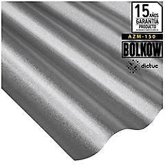 0.35 x 851 x 2000 mm, Plancha Acanalada Onda Toledana Zincalum gris