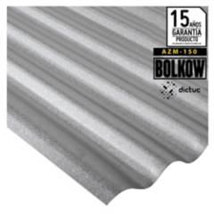 BOLKOW - 0.35 x 851 x 3000 mm. Plancha Acanalada Onda zinc gris Recubrimiento AZM150