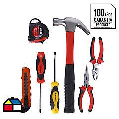 Set de herramientas manuales acero 7 piezas